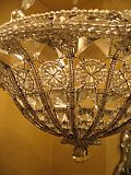 19th C. Genovese Beaded basket chandelier (X17)