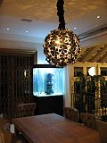 Lotus Chandelier Black
