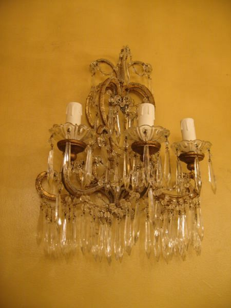Set of 3 19th C. Florentine Wall sconces (82/04) 1