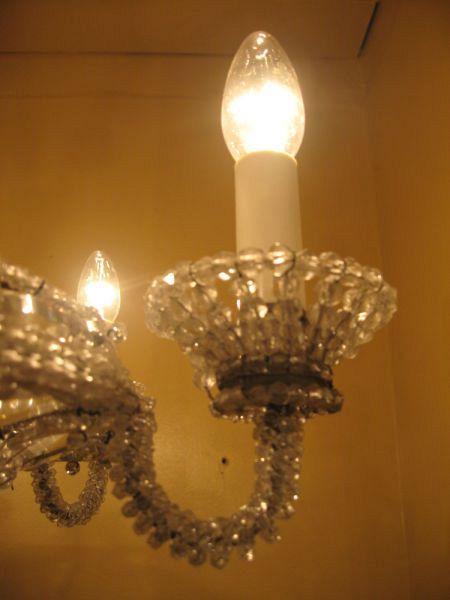 19th C. Genovese beaded basket chandelier (X17) 3