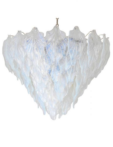Murano Opaline Leaves Chandelier