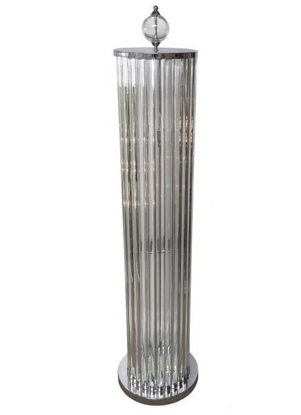 Crystal bars floor lamp
