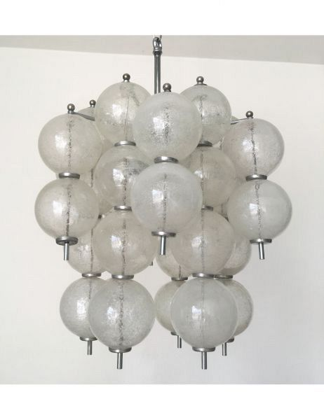 Murano glass balls chandelier by venini circa 1960s rainbow murano glass balls chandelier by venini circa 1960s aloadofball Image collections