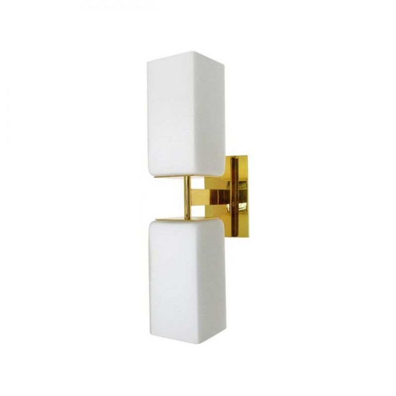 Murano Double Frost Glass Wall Light