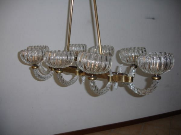 1930's Barovier chandelier 8 lights (12-50 I)
