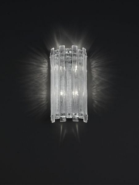 Rock crystal style wall sconce