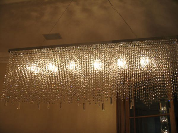 Diamante Rec chandelier Bespoke 1