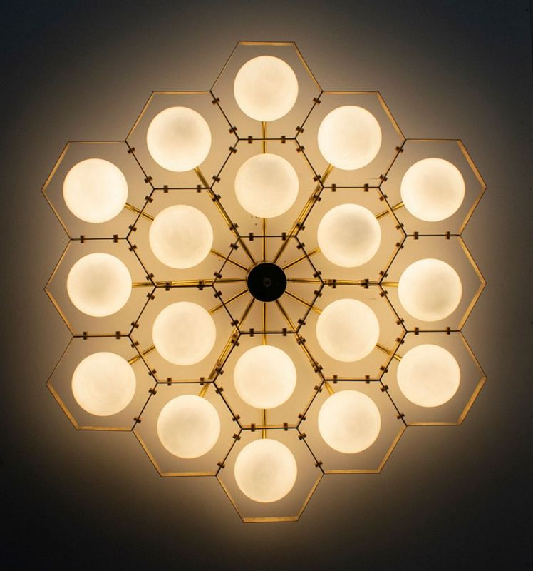 Honeycomb Flush Mount 1
