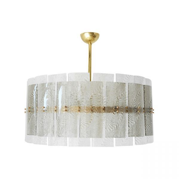 Murano Clear and Smoky Glass Chandelier