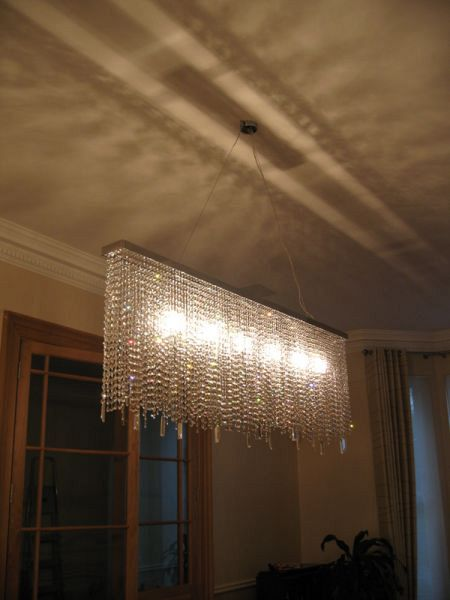 Diamante Rec chandelier Bespoke